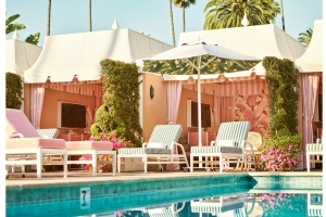 The Beverly Hills Hotel introduces an enhanced pool experience with chic redesign of its historic cabanas