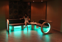 LED lighting brings colour to furniture