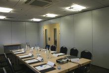 Style's folding partitioning creates successful rental space