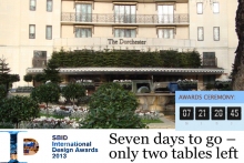 One week to go and just two tables left at SBID International Awards 2013