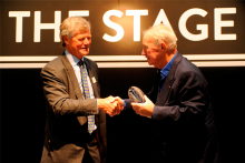 Sir Terence Conran collects Lifetime Achievement Award