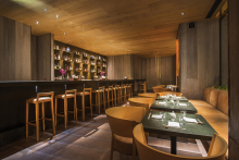 into lighting selected for stylish Japanese restaurant in the capital
