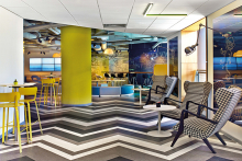 Vibrant interiors invigorate guests of Le Campus