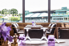 SHH designs interiors of The Champion's Room at Wimbledon