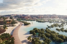 HRH Crown Prince launches stunning nature inspired designs for gateway island
